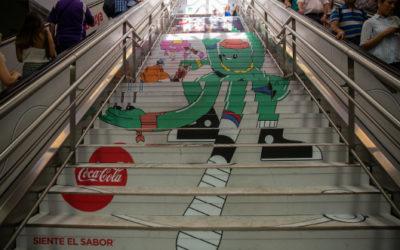 El arte urbano llega a la estación de metro de Sol de la mano de Coca Cola