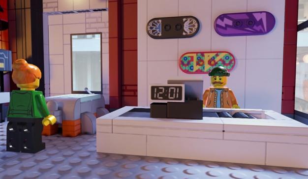 Una tienda de ropa, sin ropa de Lego