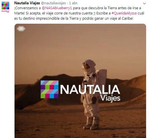 Nautalia Viajes pone en marcha una campaña de la mano de Alyssa Carson